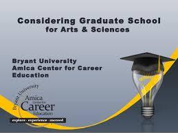 Considering Grad School Bryant University Graduate School