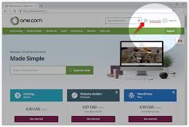 Logging into the One.com control panel – Support | One.com