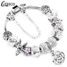<b>CUTEECO</b> 925 Fashion Silver Charms <b>Bracelet Bangle</b> For Women ...