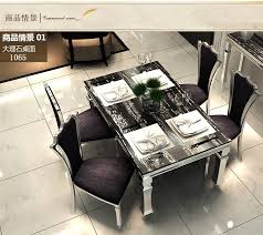 Dining table sets black marble dining 4 chairs modern stylish room set cheap furniture send from China