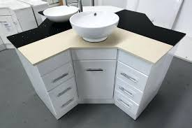 image of corner bathroom cabinet small
