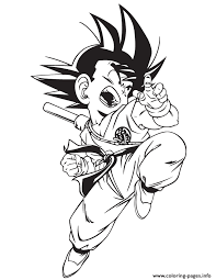 Small Picture Dragon Ball Gt Kid Goku Coloring Page Coloring Pages Printable