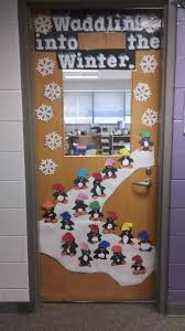 Have your students waddling into winter, Penguin style, with this fantastic Christmas  classroom door idea. Part of the top 10 Christmas Classroom ...