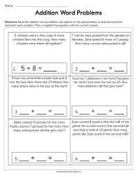 addition word problems worksheet have