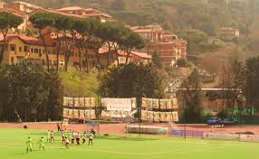 Italy Budget Airline Football After a few minutes of feeling each other out the game exploded into life. A ball over the top of the San Cesareo defence reached a Frascati player who.