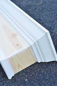 Diy Wood Cornice Remodelaholic How To Build And Hang A Window Cornice