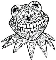 Day Of The Dead Skull Coloring Page Skull Coloring Pages Skull