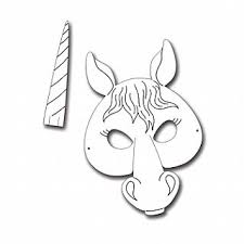 Card Masks To Decorate Horse or Unicorn Printed Card Masks for Kids to Decorate Pack of 11