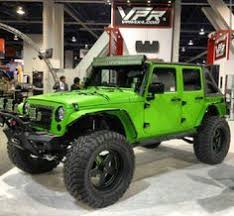 sick green jeep