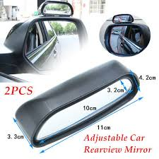 <b>2 Pieces Car Rearview</b> Mirror Blind Spot Side Wide Angle View HD ...