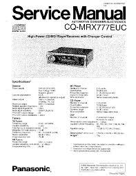 panasonic cq c1333u wiring diagram panasonic wiring diagrams description panasonic cq mrx777euc service manual