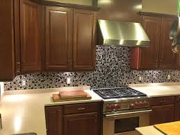 silver backsplash kitchen the is beautiful and creates a sophisticated the tile guy i contracted