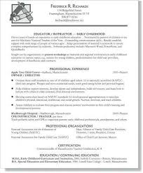 Teacher Resume Objective Examples Interesting Preschool Teacher Resume Sample Best Of Early Childhood Education