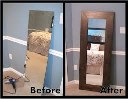 white leaning floor mirror. Simple Mirror White Leaning Floor Mirror And With A Great Tutorial For  Attaching The To In I