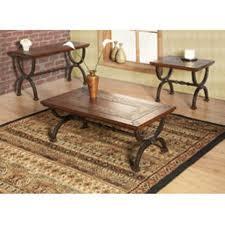 slate and metal coffee end table set tile top ashley furniture antigo with additional art deco