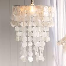 capiz chandelier shade pbteen
