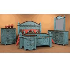 turquoise bedroom furniture. Fine Bedroom Corona Antique Turquoise Bedroom Set On Furniture D