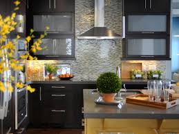 living room kitchen backsplash tile cherry cabinets wall mounted range hood origami inspired dining chair