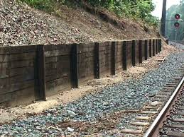 building a retaining wall with railroad ties fox railroad services specializes in constructing retaining wall systems for all s including