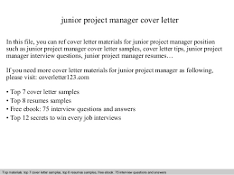 Junior Project Manager Cover Letter