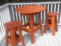redwood bistro table set