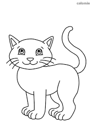 Vector collection of cartoon zoo animals in line art. Cats Coloring Pages Free Printable Cat Coloring Sheets
