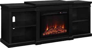com ameriwood home manchester electric fireplace tv stand for tvs up to 70 black kitchen dining