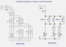 Forward Reverse 3 Phase Ac Motor Control Wiring Diagram In