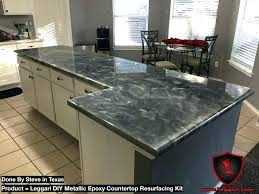 metallic countertop kit kitchen large size of cost with design 35