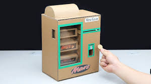 how to make mars chocolate bar vending machine with coin mini gear
