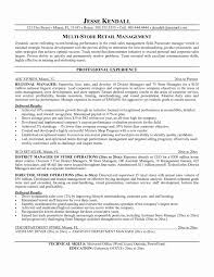 Sales Resume Examples Fresh Resume Examples Retail Management