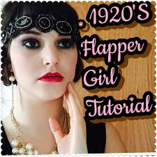 1920 s flapper makeup and hair tutorial collab with