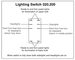 wiring diagrams for classic car parts from holden vintage lighting rocker switch off on on