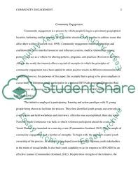 Essay Assignment Examples An Example Of Community Engagement Assignment Example