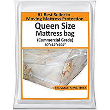 mattress in a bag. queen mattress bag for moving - heavy duty plastic cover protector 5 mil thick reusable in a l