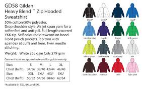Hoodie Colour Chart Hoodies With Zippers