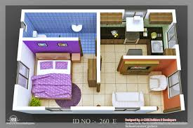 Small Picture Simple House Plan With 2 Bedrooms 3d Bedroom Apartment Floor Plans