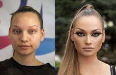 with and without makeup 12 photos