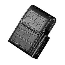 hiamok leather cigarette case flip top holder pouch best gift for men women bk