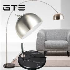 gte led floor lamps 220v fishing modern floor lamp residential lighting foot switch marble long arm