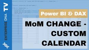 Month On Month Change For Custom Calendars In Power Bi 445