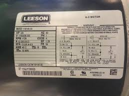 leeson wiring diagrams leeson motor wiring diagram leeson image leeson hp motor wiring diagram wiring diagrams single phase motor 2 capacitor wiring diagram solidfonts