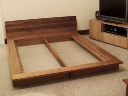 japanese platform bed. Iroko Platform Bed - Bespoke Handmade Bedroom Furniture, Brighton, Sussex Japanese