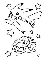 Kleurplaat Pokemon Kerst