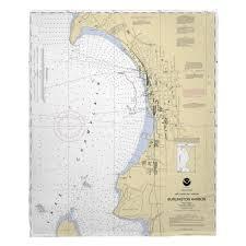 Vt Burlington Vt Nautical Chart Blanket