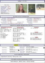 Athletic Resume Template Free Resume Format Templates g5K6V5aP .