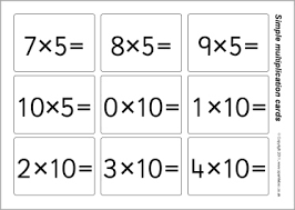 Printable Multiplication Flash Cards 1 12 Printable Cards