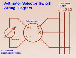 voltmeter selector switch wiring diagram for three phase voltmeter selector switch wiring diagram for 3 phase