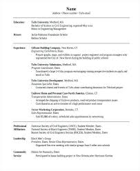 Resume Objective For Civil Engineering Student Under