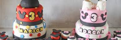 Mickey And Minnie Mouse Birthday Cakes Cupcakes For Boy Girl Twins